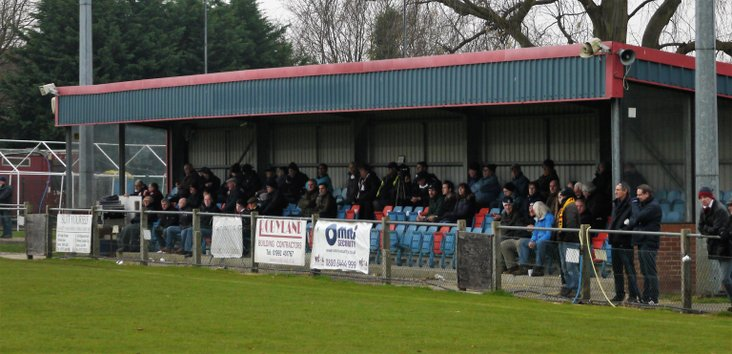 Potters Bar Town FC main stand