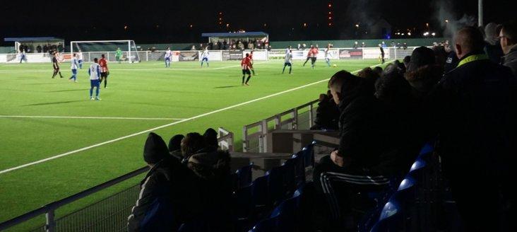 Fans try not to freeze at Parkside- image from Louis Maughan