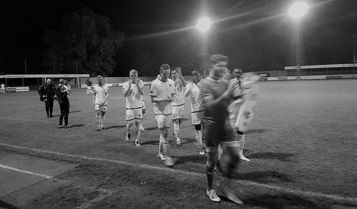 Romford FC after an away win at Bury Town