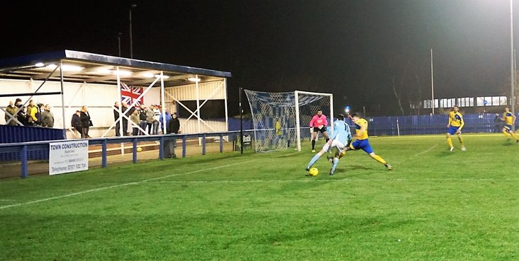 Brentwood Town on the attack