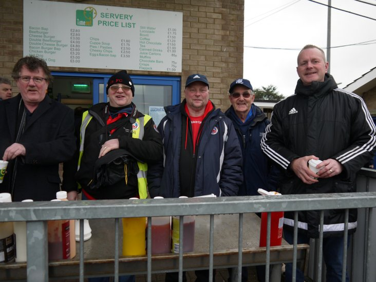 From left to right- interloper, Dave, Cliff, Mick and Kerry of Borough!