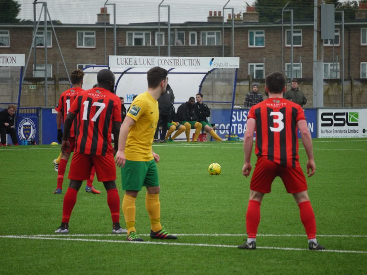 A Horsham free kick