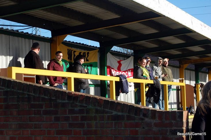 Fans in the sunshine at Thurrock FC
