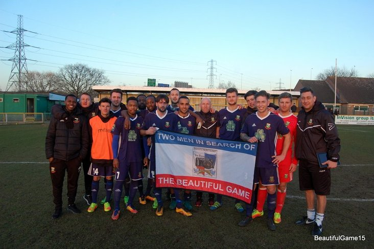 Hendon celebrate the end of their beautiful game