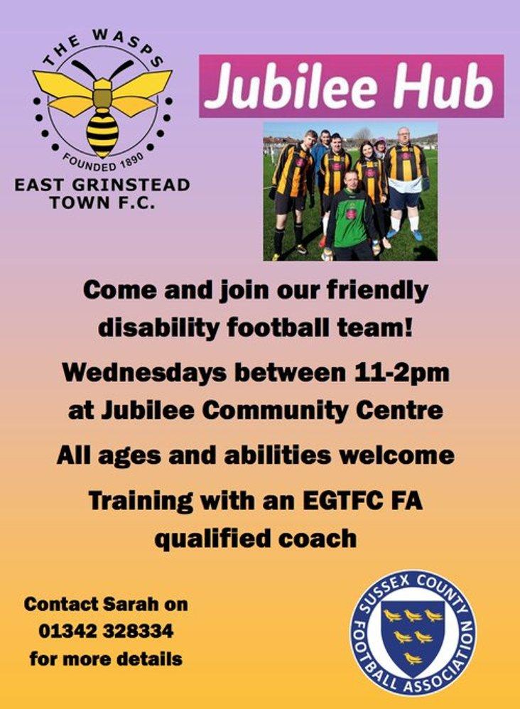 East Grinstead disability football team