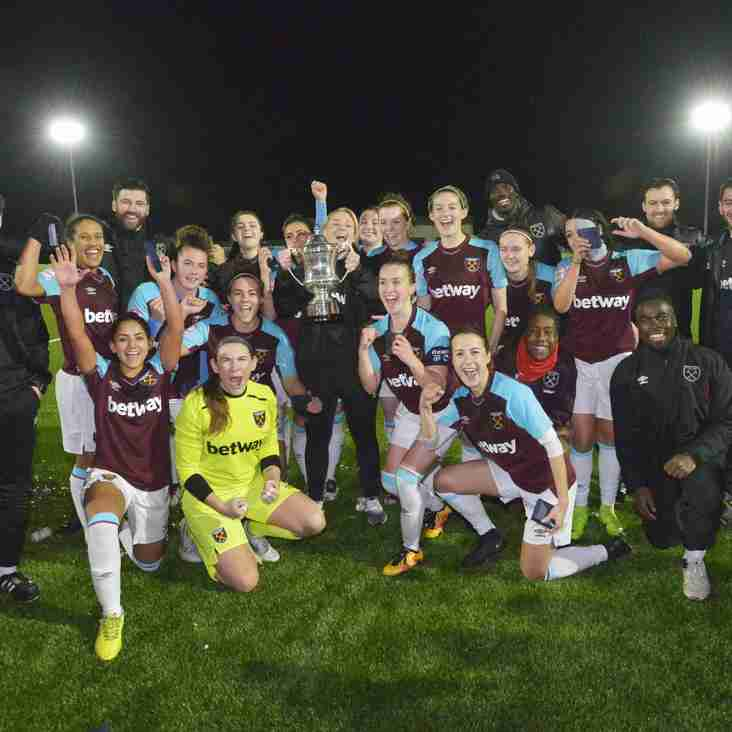 Hammers win the Isthmian Women's Cup- sponsored by goodmove.co.uk