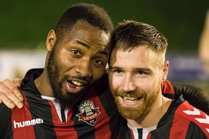 Marcus Elliott and Lloyd Cotton at full time