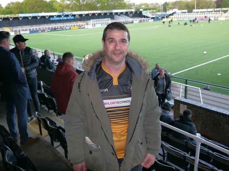 Cray Wanderers fan Tony