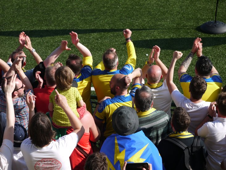 Haringey fans celebrate promotion!