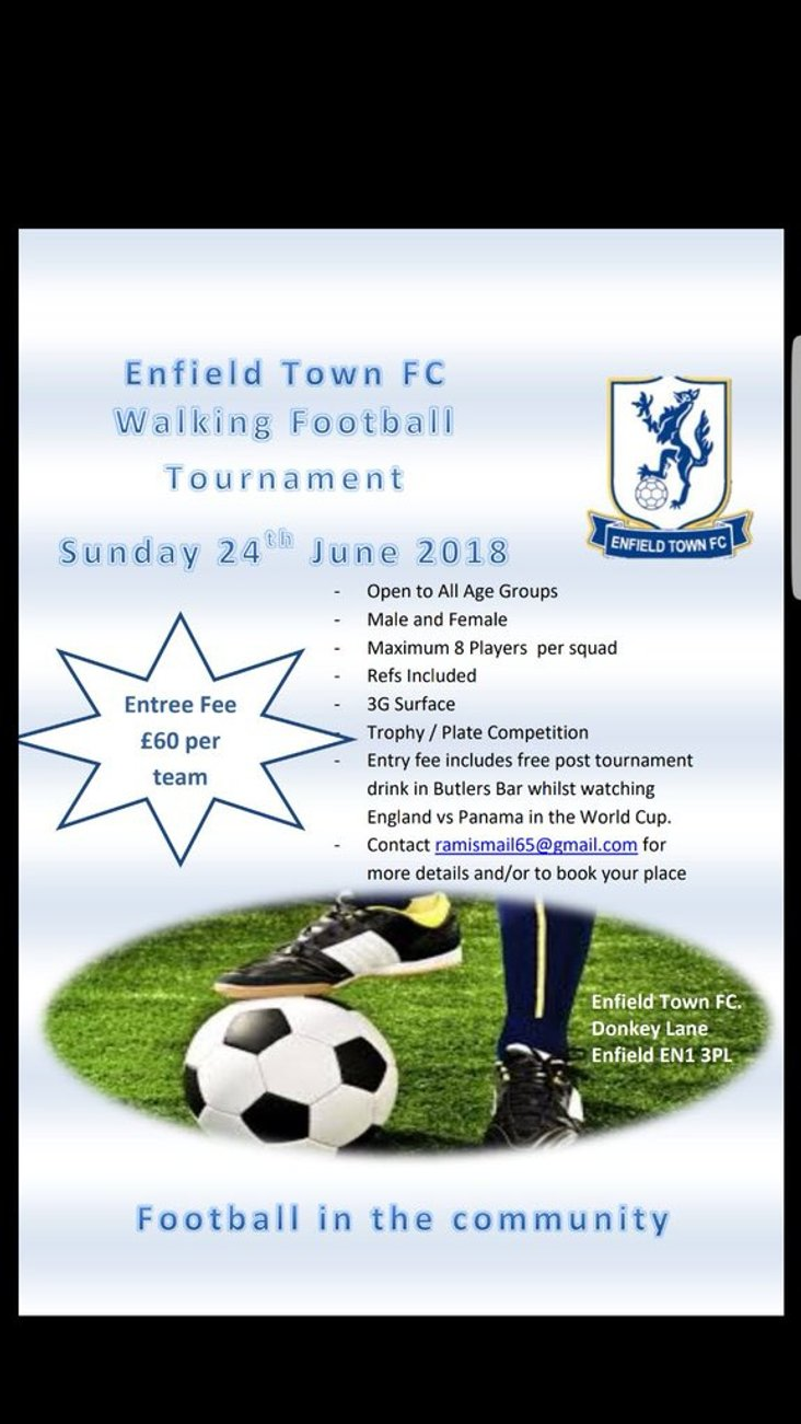Enfield Town walking football