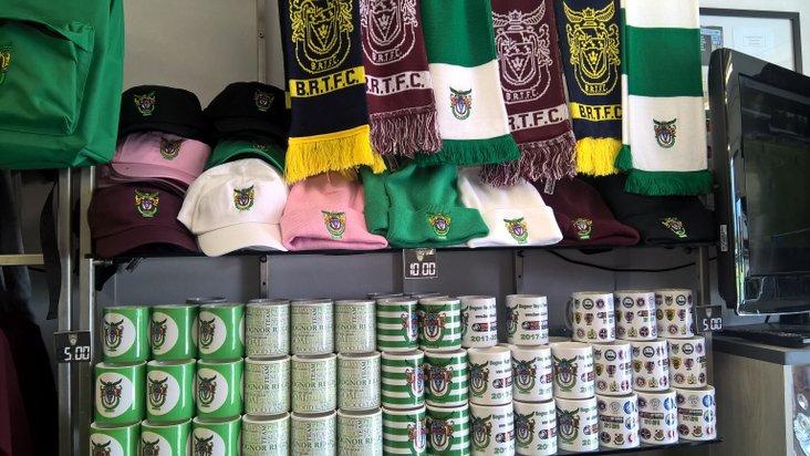 Bognor club shop- image by Tommy McMillan