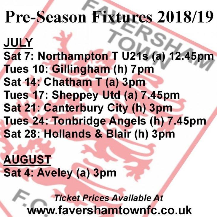 Faversham Town pre-season programme