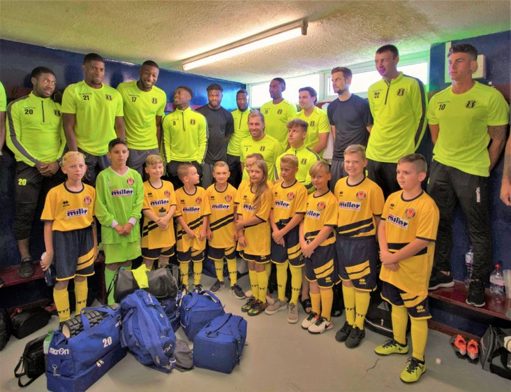 Witham Town Under 11's with Grays Athletic