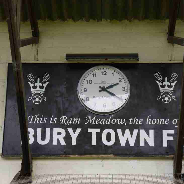 Bury Town sign Hall's Robson