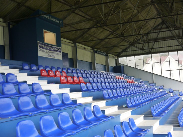 An old stand with new seats