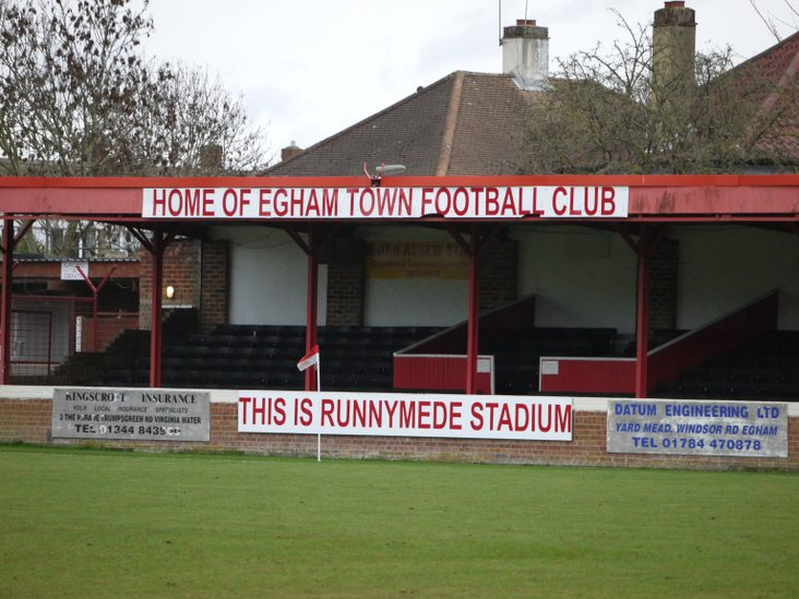 The main stand at Runnymede