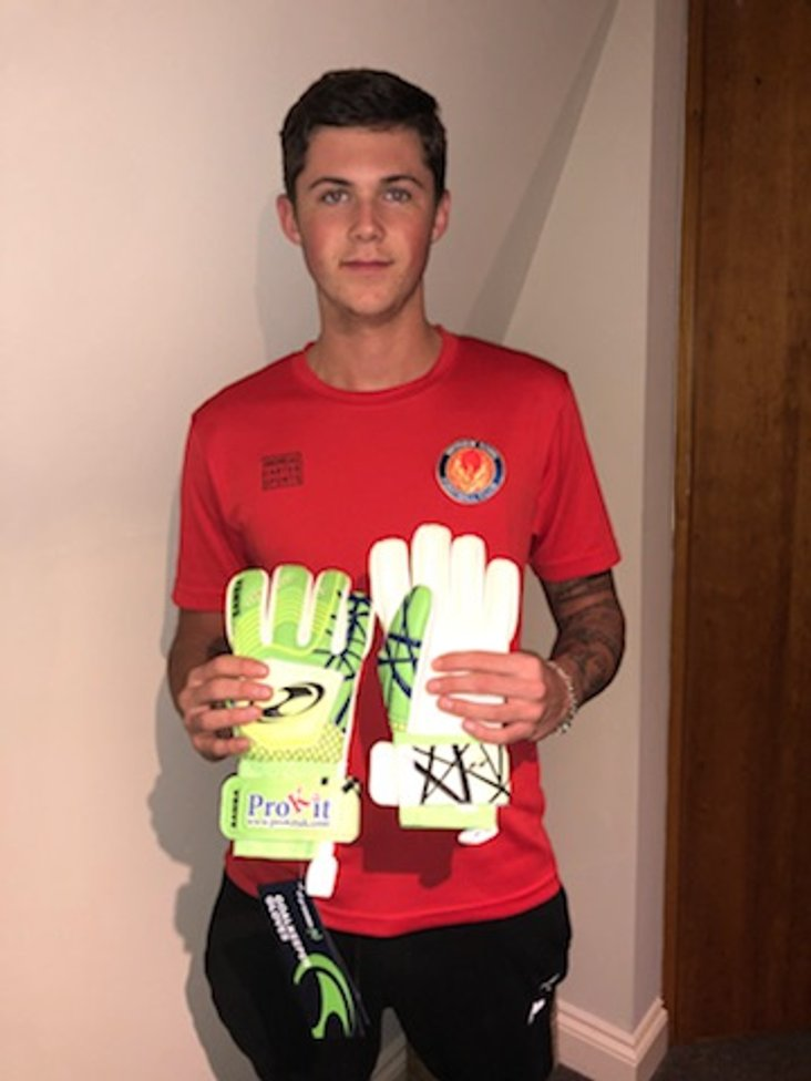 Luca with his gloves