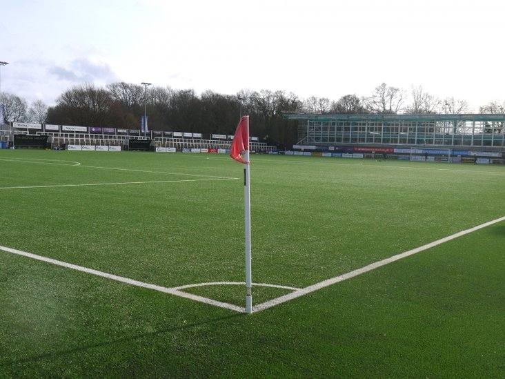 Bromley's new stand taking shape behind the far goal