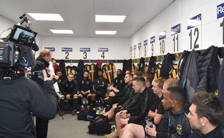 Harry Redknapp gives a teamtalk