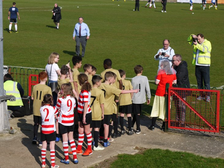 Whitehawk mascots- and bride to be!