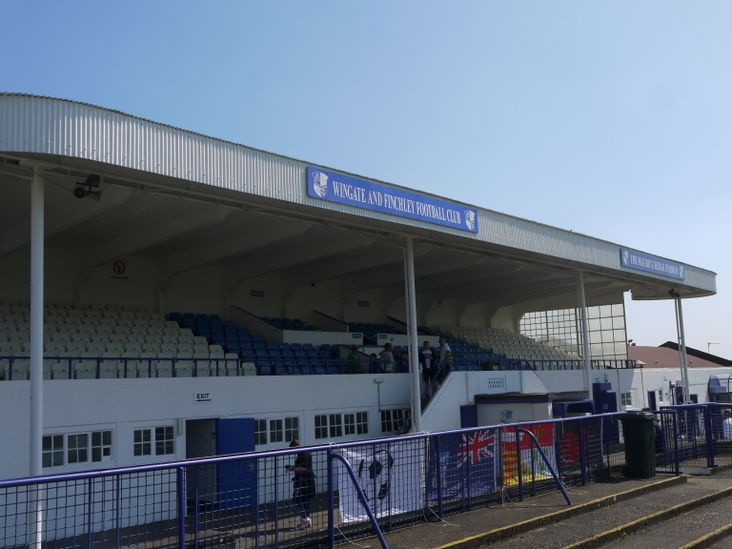The fabulous old grandstand at the Maurice Rebak Stadium