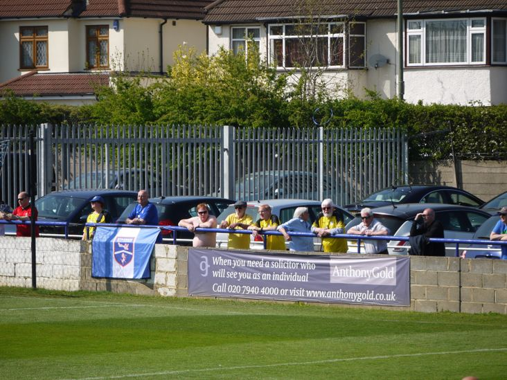 Margate fans on the open terrace