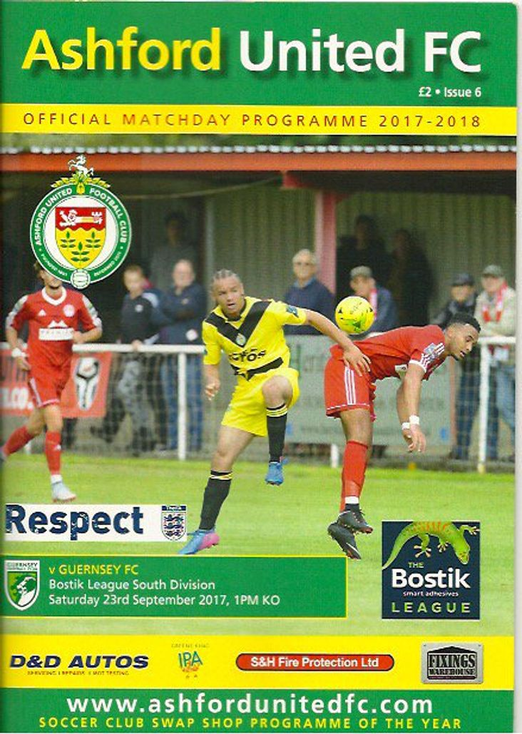 Ashford United programme