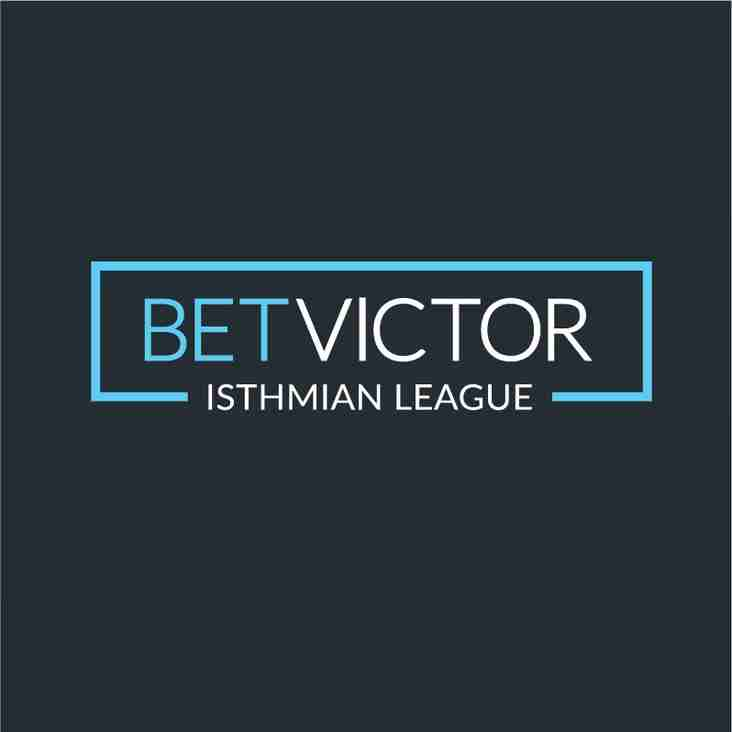 BetVictor Isthmian internal transfers w/e 14 September 2019