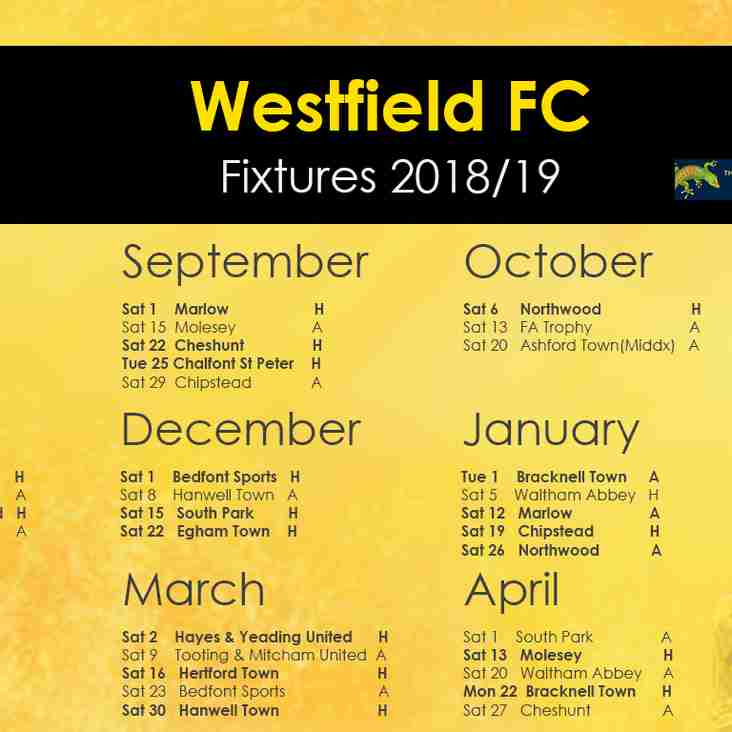 2018/19 Bostik Fixtures Announced