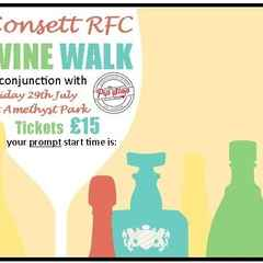 Consett RFC - WINE WALK - First Social Event of the New Season