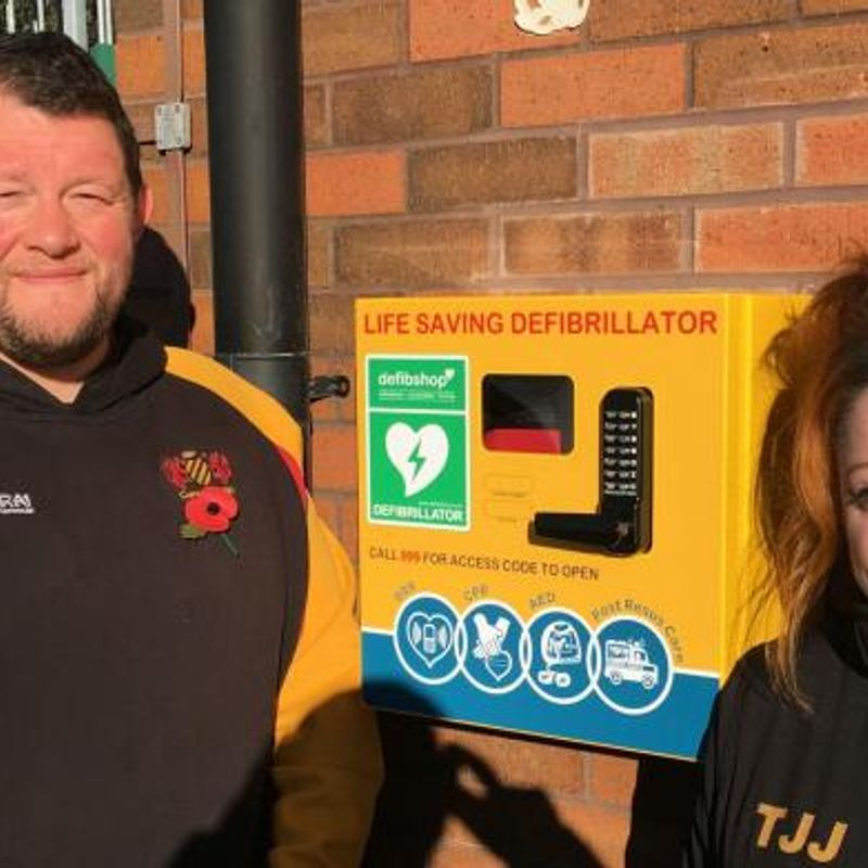 Consett Rugby Club installs a AED defibrillator
