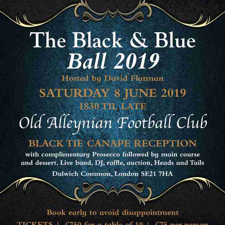 OAs Black & Blue Ball - hosted by David Flatman