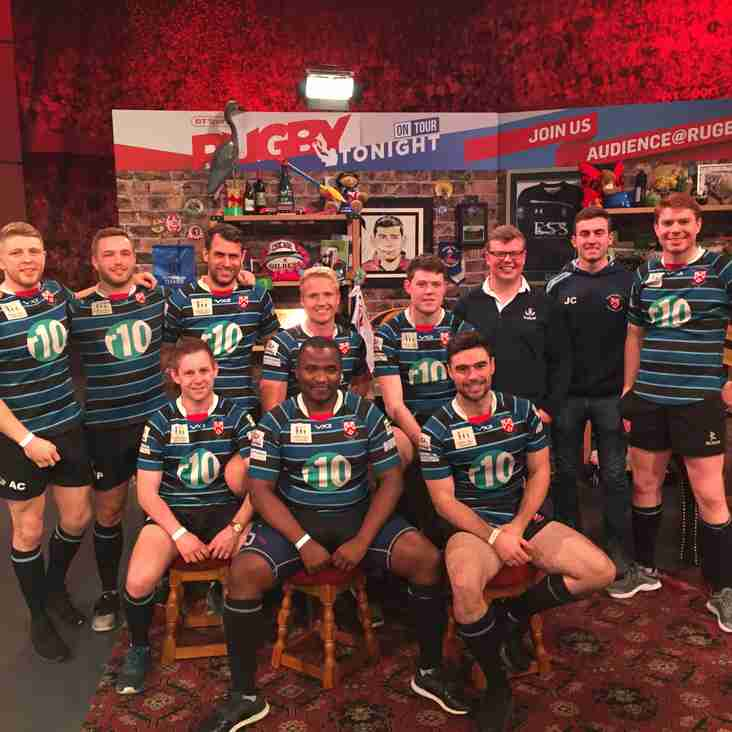 "OAs light up the screen on BT Sport's ""Rugby Tonight"""