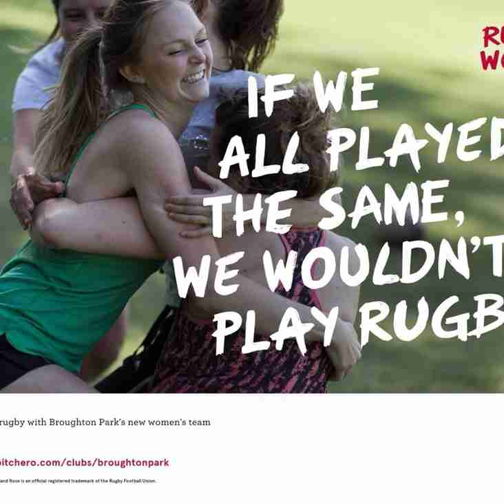 Women's Rugby Every Sunday Morning at Park
