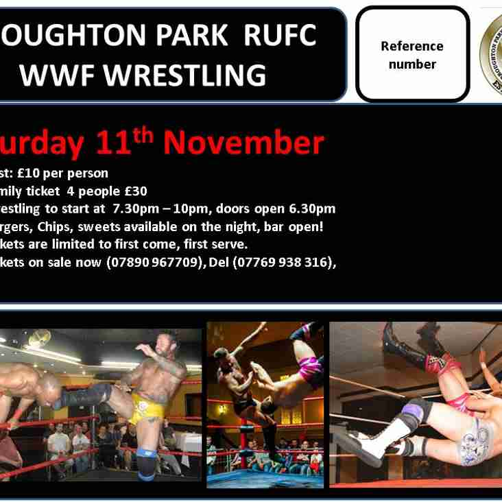 Broughton Park WWF Wrestling - Saturday 11th November