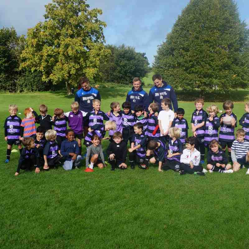 U7`s 21 Sept 2015 Training Day with Bristol Players