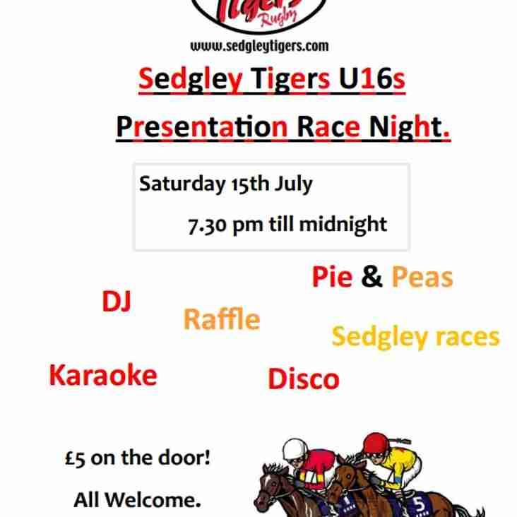 U16s Race Night