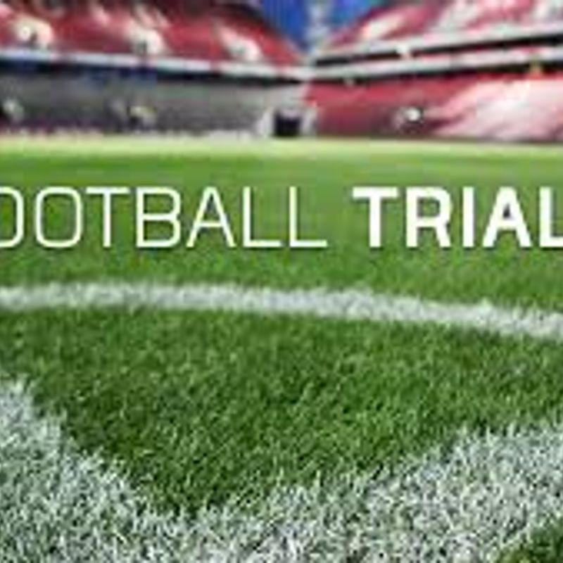 TRIALS FOR UNDER 14's, DOB 2005