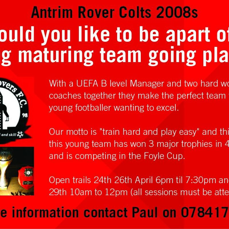 Recruiting for Under 10's Colts