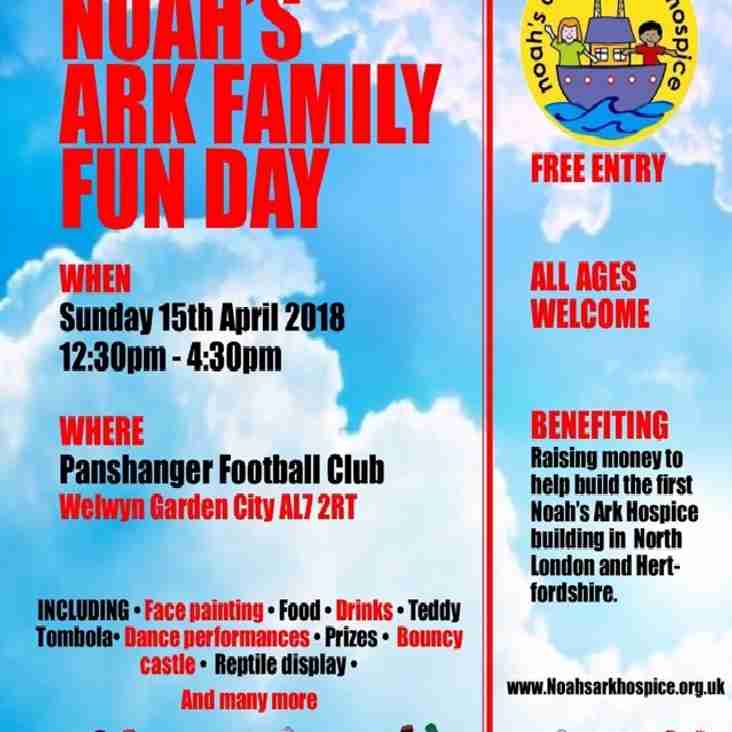 Noah's Ark Family Fun Day - 15th April 2018