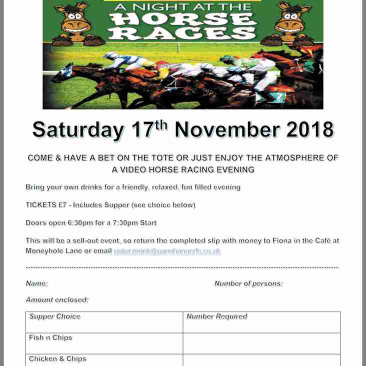 A Night at the Races - Fundraising Night