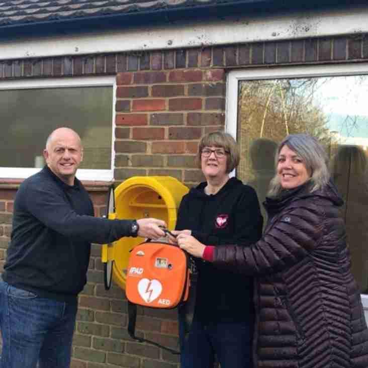 New Defibrillator at Moneyhole Lane Playing Fields
