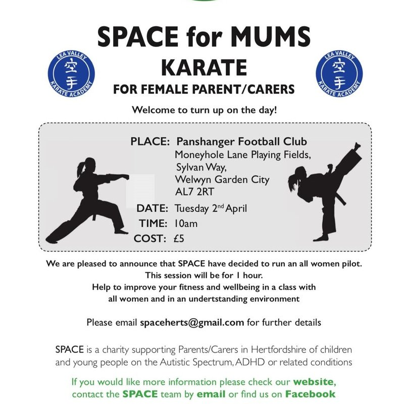 SPACE for MUMS - Karate for Female Parent/Carers