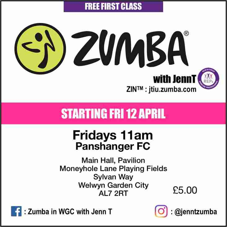 ZUMBA® with JennT comes to Panshanger FC