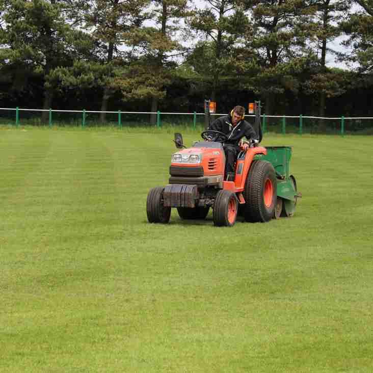 Pitch Maintenance Commences!