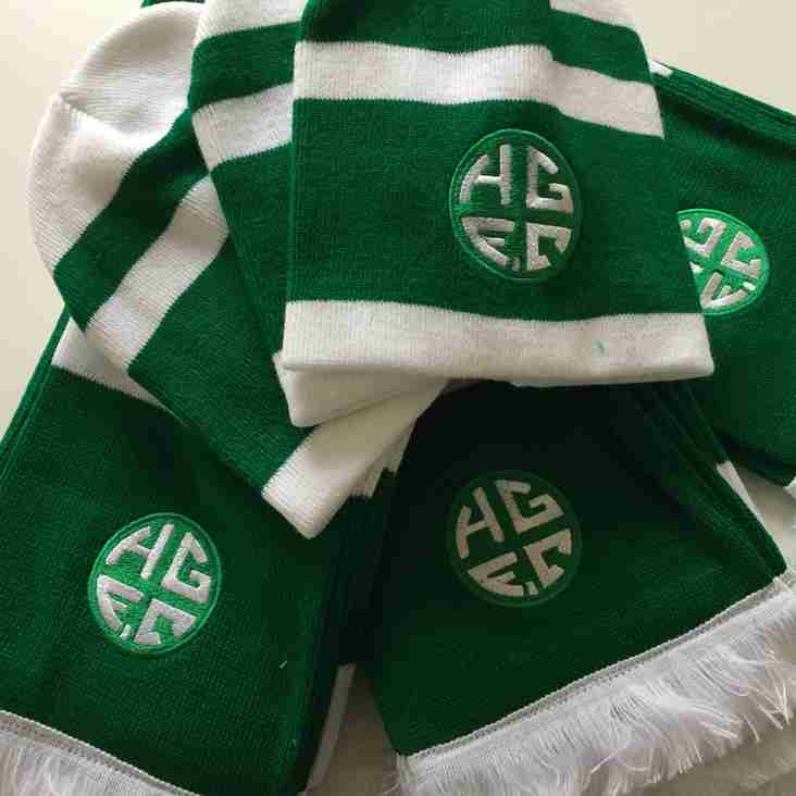 HGFC Scarfs and Bobble Hatts available again