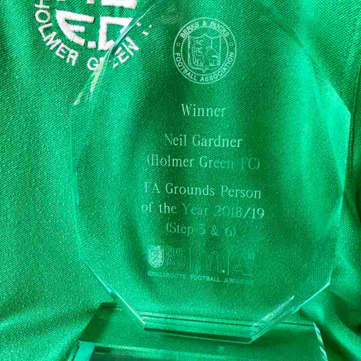 Groundsperson of the Year Award Collected