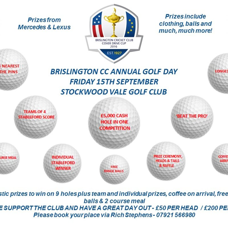 Brislington CC Golf Day
