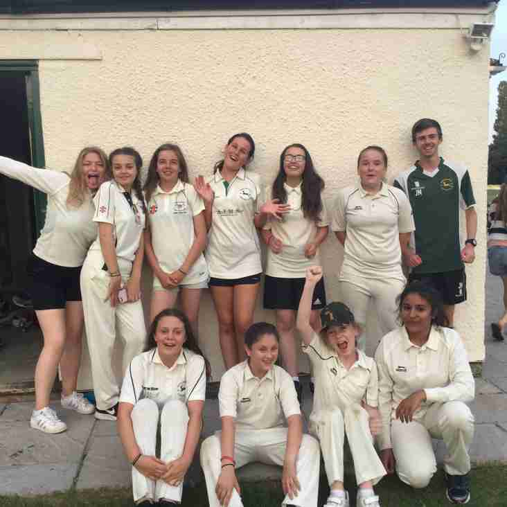 U15's Girls 1st Win!