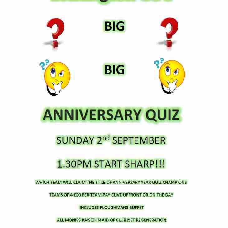 Big Anniversary Quiz